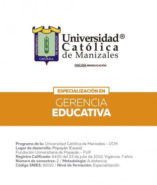 ESPECIALIZACION EN GERENCIA EDUCATIVA UCM